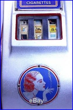 Rare Antique Liberty 1 cent Slot Machine/Trade Simulator Original Paint & Keys