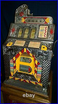 Rare Antique Mills (FOK) 5¢ Slot Machine with VENS mint dispenser, Circa 1931