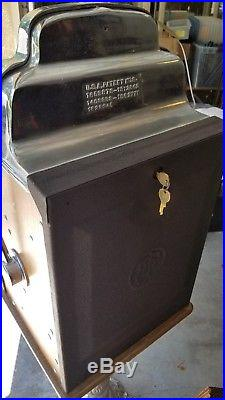 Rare Antique The Sands Indian Head Mechanical Slot Machine Ornate Stand