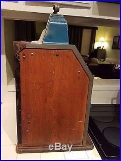 Rare Antique Vintage 1937 Jennings Big Star Chief Nickel Slot Machine