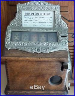 Rare Caille Brothers Oak Good Luck Trade Stimulator Cigar Machine NO RESERVE