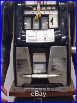 Rare Life-size 25 Cent Mills/Harris Mexican Bandito Slot Machine