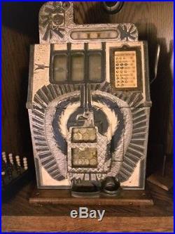 Rare Original 25 Cent War Eagle Slot Machine by Mills circa 1930s