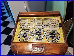Rare Original Jennings Good Luck Floor Model Slot Machine Electric Coin op