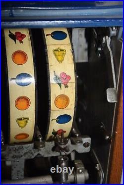 Rare Vintage 1938 Mills Bursting Cherry Dime Slot Machine Works Perfectly