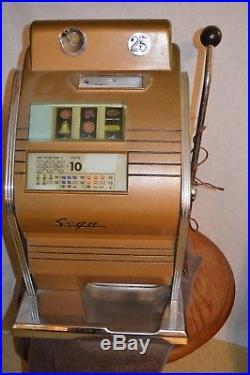Rare Vintage Sega 25 Cent Slot Machine