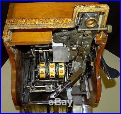 Reduced 1941 Antique Mills QT Bell Sweetheart Nickel Slot Machine 3-Reel Fun