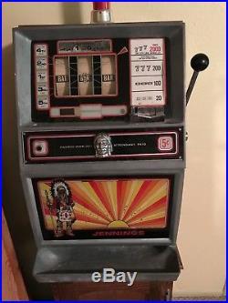 Refurbished Antique Jennings 5 Cent Slot Machine