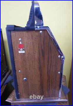 Restored 1935 Mills Castle Front 5c Nickel Slot Machine w Gold Award NICE