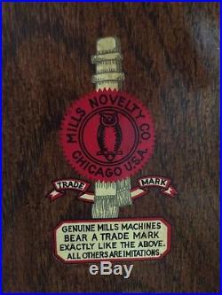 Roman head Antique Slot Machine quarter mills