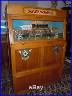 Ruffler and Walker Grand National Coin Operated Penny Arcade Horse Race Game