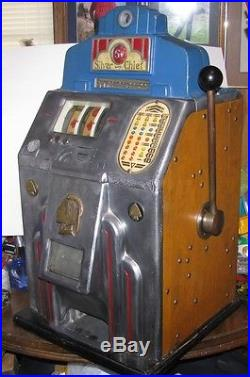 Skill Stops Working On A Jennings Silver Chief 5 Cent Slot Machine