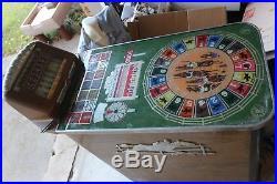 Scarce Buckley 1930s Horse Racing Slot Machine Vintage Antique
