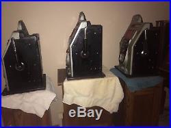 Set of 3 Mills Black Cherry Slot Machine Original 1940'S AS FOUND 5 10 25 CENT