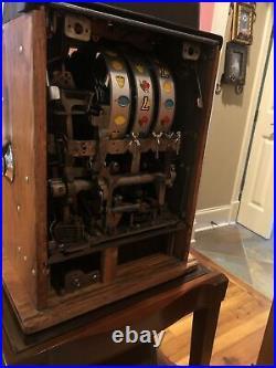 Slot Machine 777 Mills 25c BELL Antique 1940s High Top