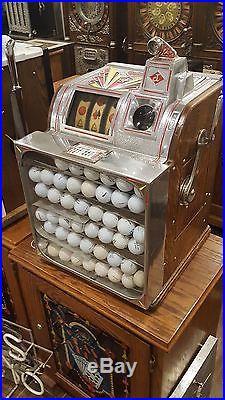 Slot Machine Antique Jennings Golf Ball Quarter coin op vending casino
