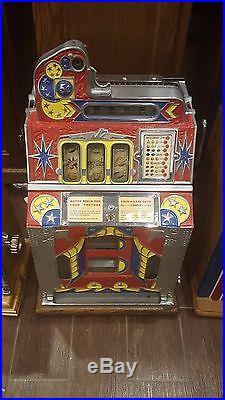 Slot Machine Antique Mills FOK coin op vending casino mint vendor fortune strips