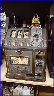 Slot Machine Antique Pace Bantam Penny coin op casino