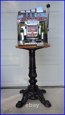 Slot Machine Cast Iron Time Period Ornate Heavy Duty Stand