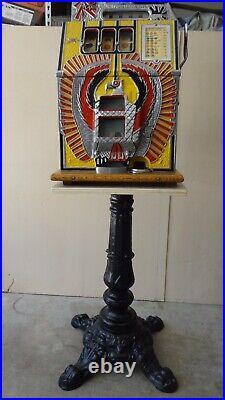 Slot Machine Cast iron Ornate Sculptured Stand