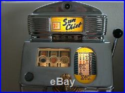 Slot Machine Jennings Sun Chief 10 Cent Tic Tac Toe Slot Machine