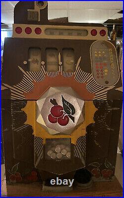 Slot Machine Mills Bursting Cherry 10 cents Antique mechanical