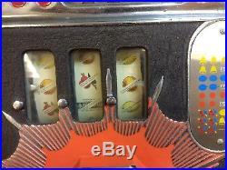 Slot Machine Mills Cherryburst 25 cent Vintage/Antique (Working, Good Condition)