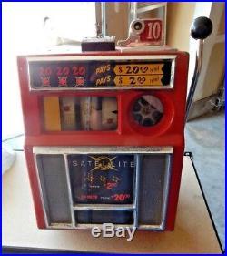 Slot Machine Pace 10 Cent Satellite Casino Mechanical 1950s Vintage