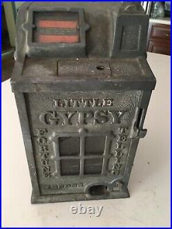 Slot Machine, antique, approx. C. 1927. Little Gypsy Fortune Telling Gum Vender