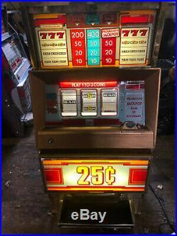 Super Cheap Working Bally Quarter 3 Line Slot Machine! Look! Nice