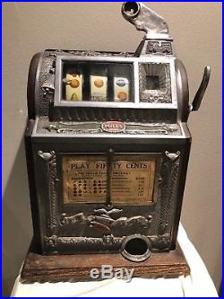 Super Rare 50 Cent Early Mills Gooseneck Slot Machine
