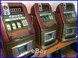 THREE MILLS BONUS SLOT MACHINES 5 cent 10 cent 25 cent WORKING