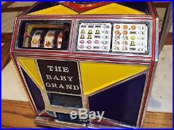Trade Stimulator / Slot Machine Antique The Baby Grand 1932 Very Rare Restored