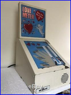 Tabletop Love Meter Vending Machine Coin Operated How Do You Rate Needs TLC