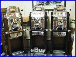 Three Jennings Prospector Machines 25c, 50c and $1.00 From Montana. Fantastic