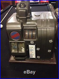 Two Columbia 5 cent slot machines Coin operated antique