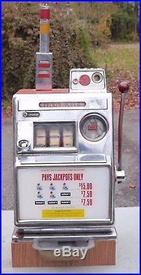 Unusual Harrah's Club Casino Antique Slot Machine PAYS JACKPOTS ONLY
