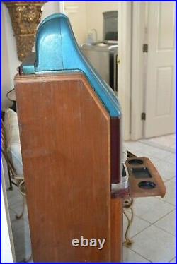 VINTAGE 1948 MILLS SLOT MACHINE BLACK BEAUTY Hi-TOP REGAL CLUB CONSOLE CABINET