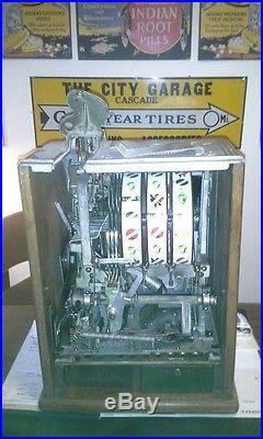 Vintage Antique 1928 Nickel Watling Deferred Pay Slot Machine