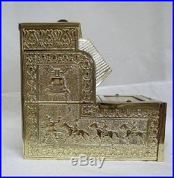 Vintage Brass The Puritan Bell Brass Trade Simulator One Arm Bandit Slot Machine