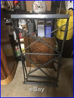 VINTAGE Folding Metal Slot Machine Stand Mills Pace Jennings Watling Caille Old