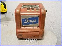 VINTAGE IMP Trade Stimulator Gum Ball Vendor (1930s) ORIGINAL PAINT