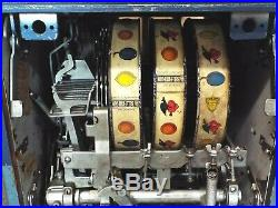 VINTAGE MILLS BLUE BELL 10c TEN Cent 3 Reel SLOT MACHINE One Arm Bandit COIN OP