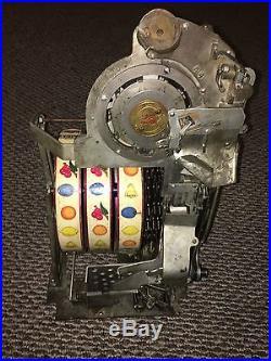 VINTAGE WATLING 25 CENT ROL-A-TOP SLOT MACHINE ANTIQUE ORIGINAL