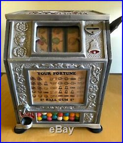 VTG Puritan Baby Vendor Gumball Trade Stimulator Working 1928