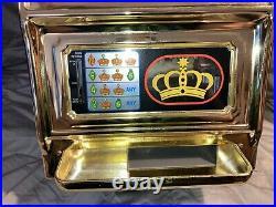 VTG WACO CASINO CROWN NOVELTY SLOT MACHINE 25 CENT JAPAN 6999 Original Box