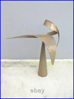 Very Large Modernist Kinetic Bill Keating Bronze Sculpture
