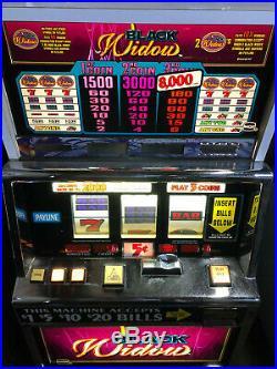 Very Nice Working Igt Black Widow Slot Machine