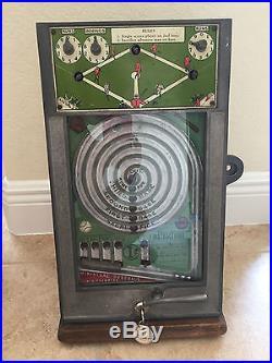 Vintage 1 Cent Baseball World Champion Skill Stimulator Miniature Flip-Ball