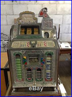 Vintage 1920's Nickel 5c Mills Slot Machine Vender Rock-ola Chicago
